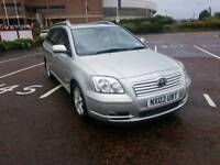 2003 TOYOTA AVENSIS 1.8 ESTATE CAR FULL SERVICE HISTORY, FULL 12 MONTHS M.O.T,