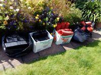 Job lot of new plastic plant pots.