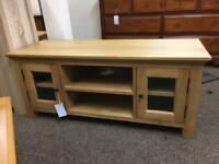 Solid oak TV Cabinet * free furniture delivery*