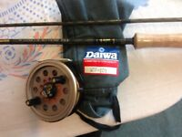 "Daiwa 10'6"" whisker Kevlar fly rod and Daiwa Reel immaculate condition."