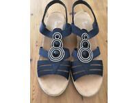 Reiker ladies navy sandals