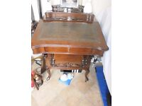ABSOLUTELY STUNNING ANTIQUE PIANO FRONTED DAVENPORT