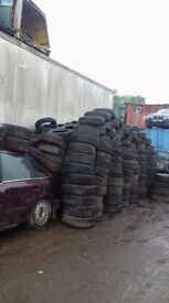 part worn tyres all free come take as many as you want ideal drifting, projects etc