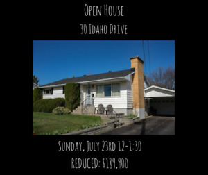 JUST REDUCED - $189,900 30 Idaho Drive **OPEN HOUSE**