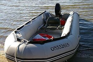 16' Inflatable Boat, Trailer, Fish Finder and Trolling Motor