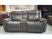 NEW Ex Display ScS Baxter 2 Seater Electric Recliner Sofa with USB Ports Can/Del Viewing Kirkby NG17