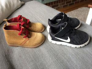 Toddler Nike Free and Leather Boots Size 6