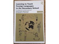 Learning To Teach Foreign Languages In The Secondary School, 4th Ed.