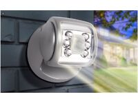 New silver porch light
