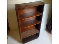 Free-standing wooden book case