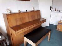 EAVESTAFF, TWO PEDAL, MINI UPRIGHT PIANO
