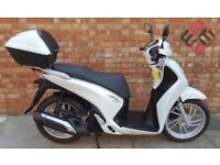 Honda SH 125 (16 REG), Immaculate condition, Sold with manufacturer warranty!