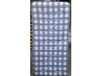 single spring mattress, 19cm thick. 190 x 90cm. In good condition.