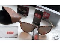 DELIVERY AVAILABLE TODAY! RAYBANS LADIES TURTLE SHELL SUNGLASSES quad