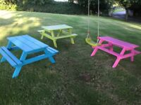 Picnic Table. Kids size in vibrant colours.
