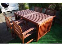 Ikea Applaro outdoor furniture set - Drop-leaf table w/ 4 chairs