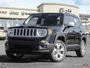 2016 Jeep Renegade LIMITED | 4X4 | X COMPANY DEMO | LEATHER |