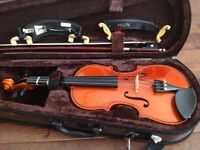 1/4 size Stentor Violin and accessories in excellent condition.