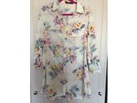 Boohoo Ladies Floral shirt dress size 12 NEW