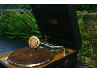Compactone gramophone with Garrard deck and sound box