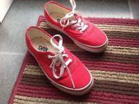 Ladies Vans canvas shoes size 4