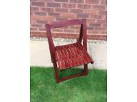 Folding garden chairs mahogany x three