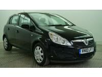 2010 Vauxhall Corsa EXCLUSIV A/C Petrol black Manual