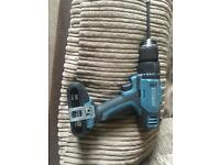 Erbauer 18v drill driver , 2 batteries, charger and case