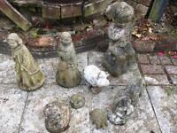 Vintage garden stone ornaments
