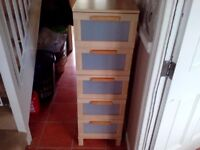 Tall 5 drawer IKEA chest of drawers