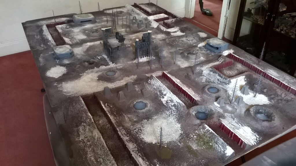 Trench Themed Gaming Table Bolt Action Warhammer 40k