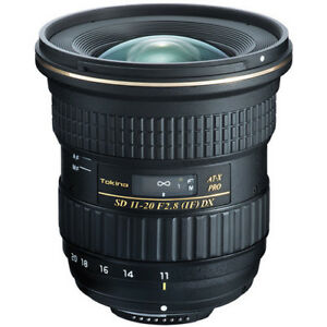 Tokina 11-20 f2.8 Lens for canon mount