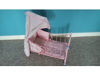 Baby Annabell cot with mattress and pillow