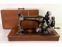 Antique Pfaff Sewing Machines with Box Cover & Key – Circa 1905