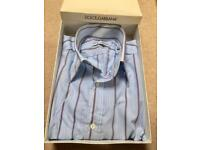 New Dolce & Gabbana Long Sleeve Stripe Shirt in box Y5SR26. Size 16.5/42