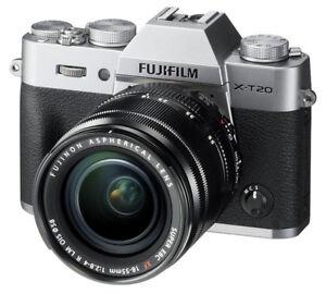 Fuji X-T20 Mirrorless Camera and Lenses