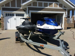 2 Sea Doo's and Trailer