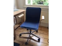 Ikea Wooden & Fabric Office Chair