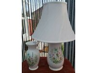 Aynsley table lamp and vase