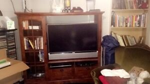 Tv stand (tv included if wanted!)