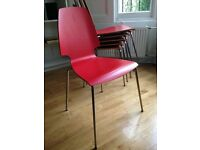 6 Chairs - IKEA VILMAR Red/chrome-plated - original value £150