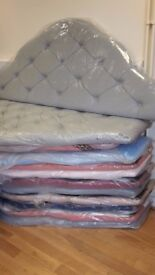 NEW 2ft6 small single,4ft, 4ft6 double and 5ft king size fabric velour upholstered headboards
