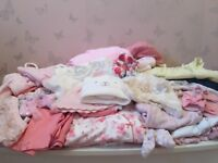 Baby girl 0-3 month bundle clothes/accessories