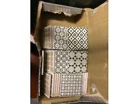 Batik Tiles - Black & Grey