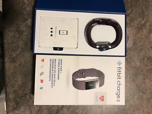 Like new Fitbit charge 2 large in plum