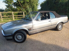 Classic BMW E30 325i CONVERTIBLE 3 series chrome bumper manual