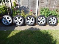 VW / AUDI / SEAT / SKODA / MERC 17 inch ALLOY WHEELS with tyres