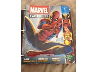 Marvel fact file issues 1-75 sorted into 5 binders