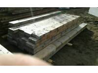 Timber tanilized posts x 40.