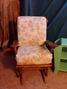 Glider rocker and side chair